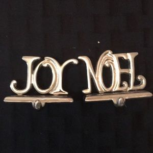 Other - *Final Price* Joy and Noel stocking holders